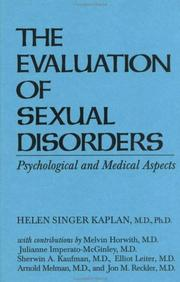 Cover of: Evaluationn Of Sexual Disorders:....Psychological And Medica | Helen Si Kaplan