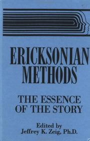 Cover of: Ericksonian methods |