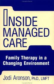 Cover of: Inside Managed Care | Judi Aronson