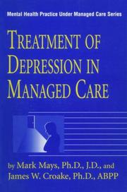 Cover of: Treatment of depression in managed care
