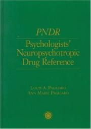 Cover of: PNDR, psychologists' neuropsychotropic drug reference