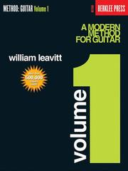Cover of: A Modern Method for Guitar - Volume 1 | William Leavitt