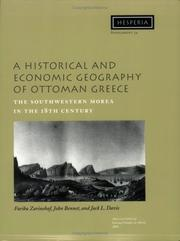 Cover of: A Historical and Economic Geography of Ottoman Greece |