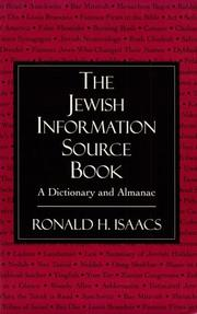 Cover of: The Jewish information source book: a dictionary and almanac