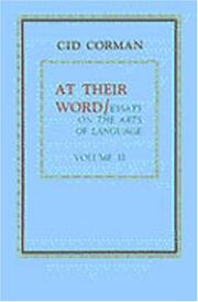 Cover of: At Their Word: Essays on the Arts of Language (At Their Word) (At Their Word)