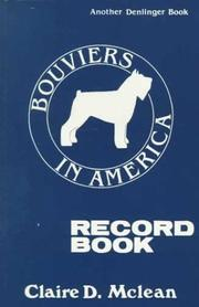 Cover of: Bouviers in America