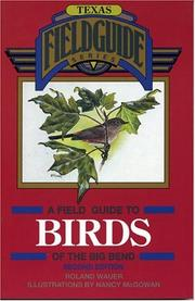 Cover of: A field guide to birds of the Big Bend