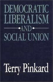 Cover of: Democratic liberalism and social union