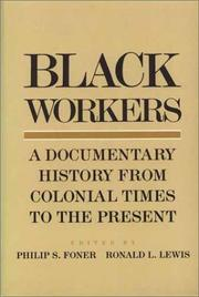 Cover of: Black Workers |