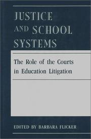 Cover of: Justice and School Systems | Barbara Flicker