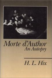 Cover of: Morte d'author