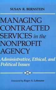 Cover of: Managing contracted services in the nonprofit agency