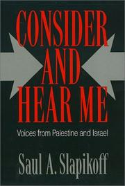 Cover of: Consider and hear me | Saul A. Slapikoff