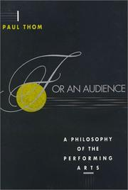 Cover of: For an Audience | Paul Thom