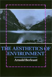 Cover of: The aesthetics of environment