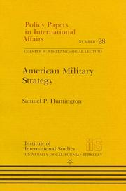 Cover of: American military strategy