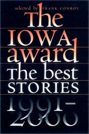 The Iowa Award by Frank Conroy