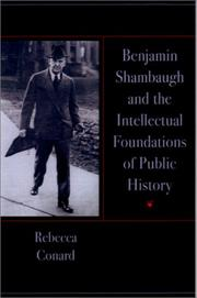 Cover of: Benjamin Shambaugh and the intellectual foundations of public history