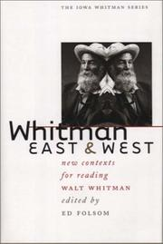 Cover of: Whitman East and West