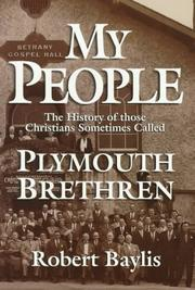 Cover of: My people | Robert H. Baylis