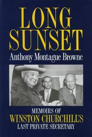 Cover of: Long sunset | Anthony Montague Browne