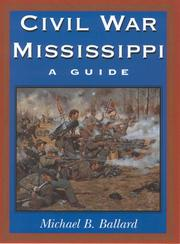Cover of: Civil War Mississippi: a guide