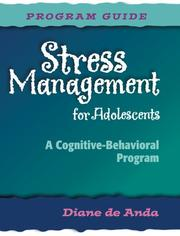 Cover of: Stress Management for Adolescents