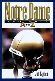 Cover of: Notre Dame football A-Z