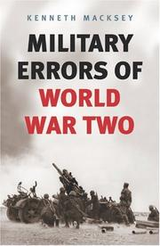 Military errors of World War Two by Kenneth John Macksey