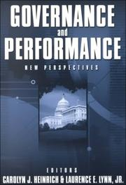 Cover of: Governance and Performance |
