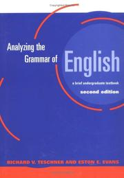 Cover of: Analyzing the grammar of English