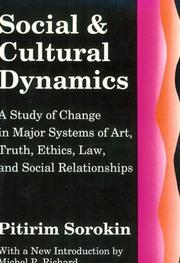 Cover of: Social and cultural dynamics