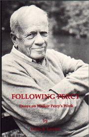 Cover of: Following Percy