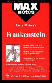 Cover of: Frankenstein (MAXNotes Literature Guides) (MAXnotes)