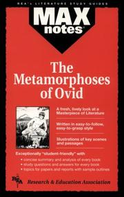 Cover of: The Metamorphoses  (MAXNotes Literature Guides) (MAXnotes)