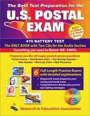 Cover of: The best test preparation for the U.S. postal exam : 470 battery test : with two CDs for the audio section of the exam
