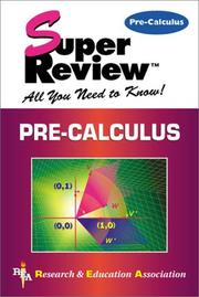Cover of: Pre-calculus
