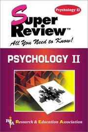 Cover of: Psychology II Super Review