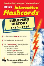Cover of: European History 1450-1789 Interactive Flashcard Book | Research and Education Association
