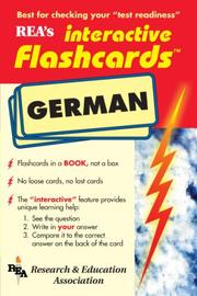 Cover of: German Interactive Flashcard Book