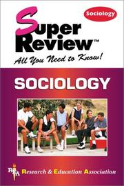 Cover of: Sociology Super Review