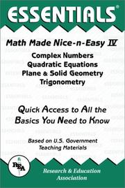 Cover of: Math Made Nice & Easy #4 | Research and Education Association