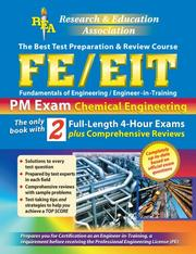 Cover of: Fe/EITPM:Chemical Engineering (Engineer in Training) | Michael Riordan