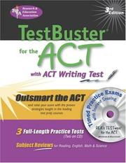 Cover of: ACT Testbuster w/ CD-ROM -- REA's Testbuster for the ACT w/ TESTware