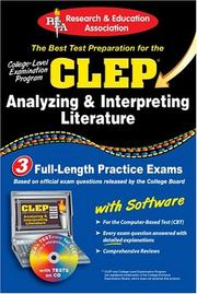 Cover of: CLEP Analyzing & Interpreting Literature with CD-ROM (REA): The Best Test Prep for the CLEP Analyzing and Interpreting Literature Exam with REA