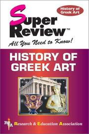 Cover of: History of Greek Art Super Review | F. B. Tarbell