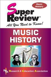 Cover of: Music history
