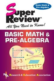 Cover of: Basic math and pre-algebra