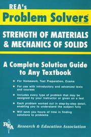 Cover of: Strength of Materials Problem Solver (Problem Solvers)