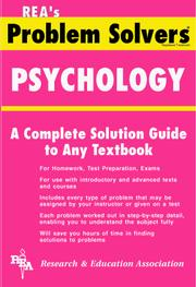 Cover of: Psychology Problem Solver (Problem Solvers)
